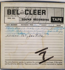 Box for Tape 7 (1959) in Leo Fitzpatrick's collection