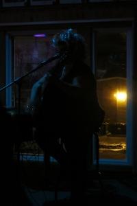 Tammy Adams at home on stage. (Gaspé Legion. Oct. 31, 2015. Photo Glenn Patterson)