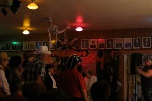 Costumed revellers on the dance floor, Gaspé Legion (Photo Glenn Patterson)