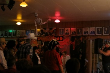 Costumed revellers on the dance floor, Gaspé Legion (Photo Glenn Patterson)