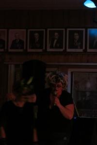A zombie Tammy Adams (Gaspé Legion, Oct. 31, 2015. Photo Glenn Patterson)