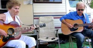 Brigid Drody and Brian Morris at the Snowman Trailer - September 1, 2013 (Photo by Glenn Patterson)