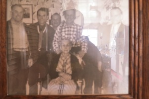 I took this photo of a picture of Keith's father and uncles (Norman, Victor, Clem, Whitmore, Stnaford) the other day at Stanford (Jr.) Chicoyne's place in Barachois West. Apologies for the glare.