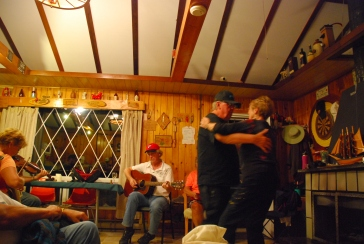 Couple dancing to music at the Cottage (Photo courtesy of Vicki Boyle LePage)